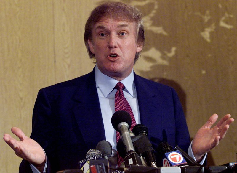 Donald Trump speaks at news conference in a Miami hotel. Tru