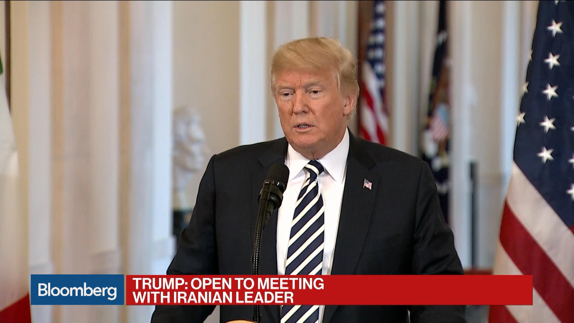 Trump Says He'd Meet Iran's Rouhani Without Preconditions