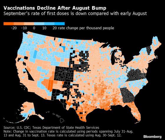 U.S. Covid Vaccinations Slide Again Ahead of Biden Mandates