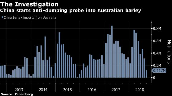 China Probes Australian Barley as Trade Tensions Simmer