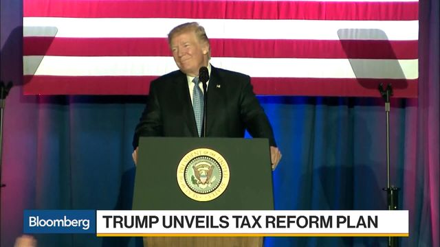 Trump reveals tax plan,fuels deficit fears