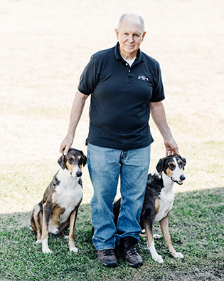 Melvin's legacy lives on in Ken and Henry, ­pictured with owner Dupont in Lafayette, La.