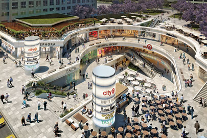 A rendering of Target's future City store in Los Angeles