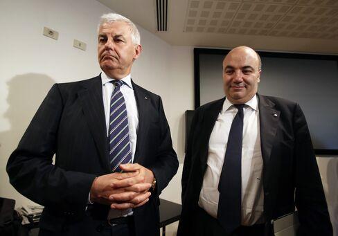 Banca Monte dei Paschi di Siena Chairman Profumo and CEO Viola