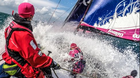 Team SCA in action on board at sea