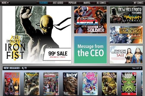 Amazon Adds Digital Comic Books to Its Content Super Team