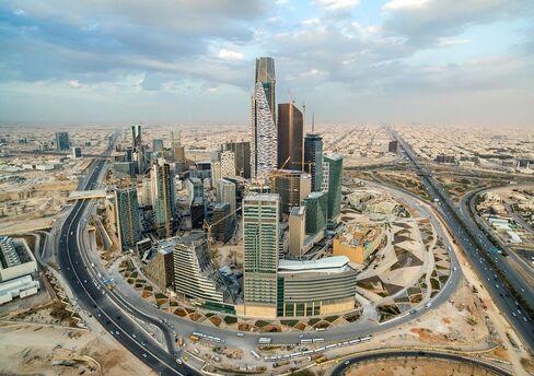 The King Abdullah financial district in Riyadh, Saudi Arabia.