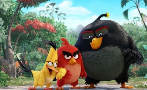 """A scene from """"The Angry Birds Movie"""""""