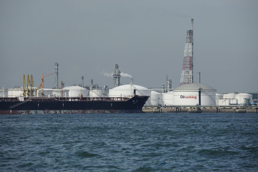 General Images of Refineries and Tankers Off Jurong Island