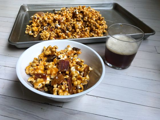 This Bacon and Beer Caramel Corn Is an Epic Movie Night Upgrade