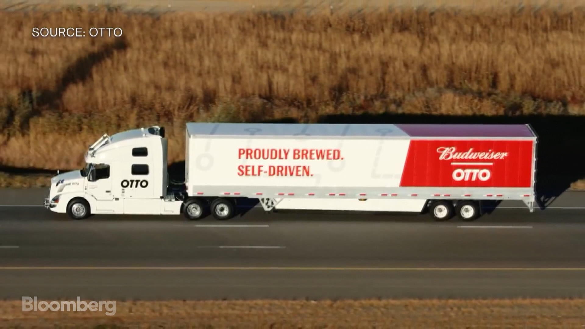 uber self driving truck packed with budweiser makes first delivery in colorado bloomberg