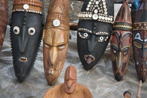 パプアニューギニア先住民の仮面