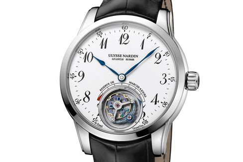 For Ulysse Nardin this watch is understated, but it's the mechanics that impress.