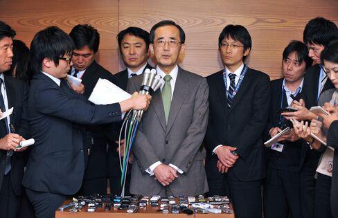 BOJ outgoing governor Masaaki Shirakawa