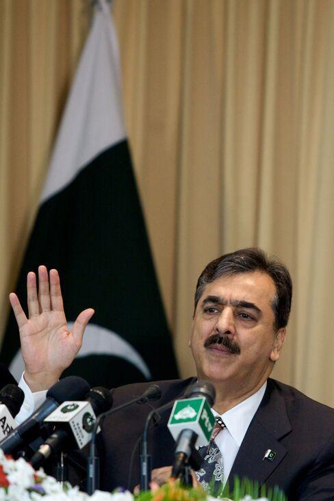 Pakistan's Prime Minister Yousuf Raza Gilani