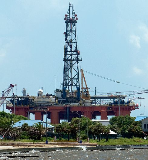 The Oil Rig Noble Frontier in Port