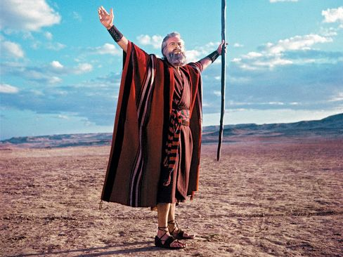 Heston As Moses In 'The Ten Commandments'