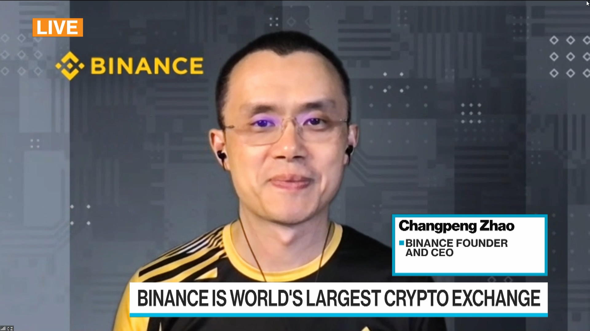 Binance CEO Sees Higher Institutional Uptake for Crypto