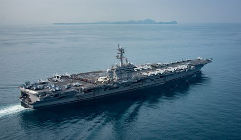 The aircraft carrier USS Carl Vinson.