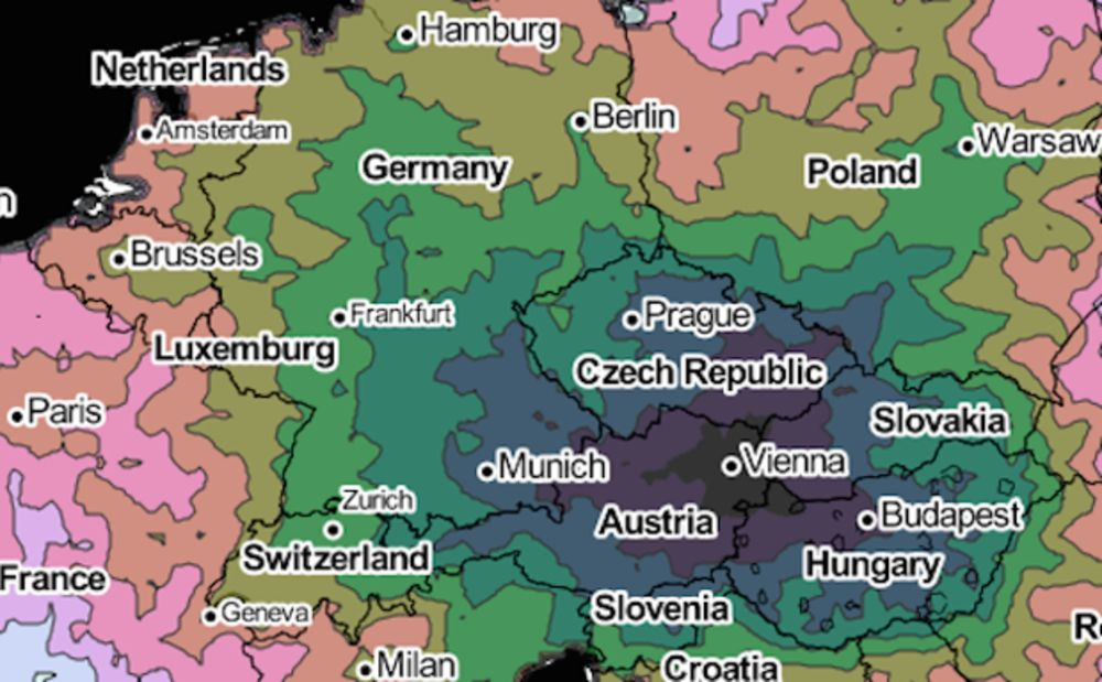 Isochrone Map Charts Travel Times Within Europe Bloomberg