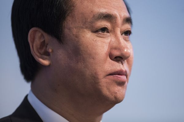 Evergrande Real Estate Group Ltd. Chairman And Billionaire Hui Ka Yan Attends Earnings News Conference