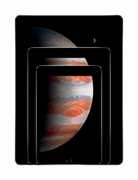 The iPad Pro's display is 78 percent larger than the standard-size iPad Air 2.