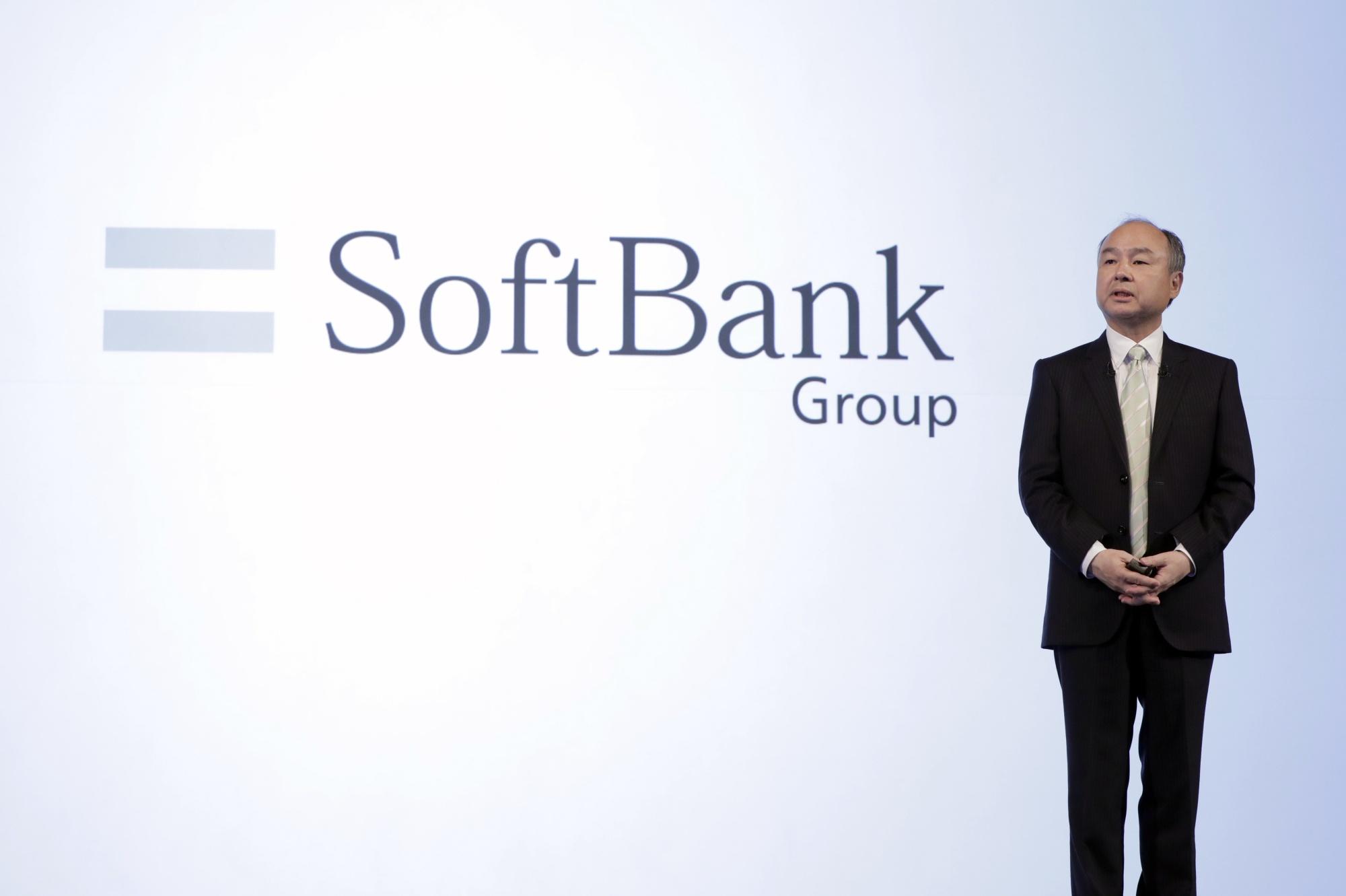 CEO SoftBank Masayoshi Son Mempresentasikan Hasil Kuartal Ketiga