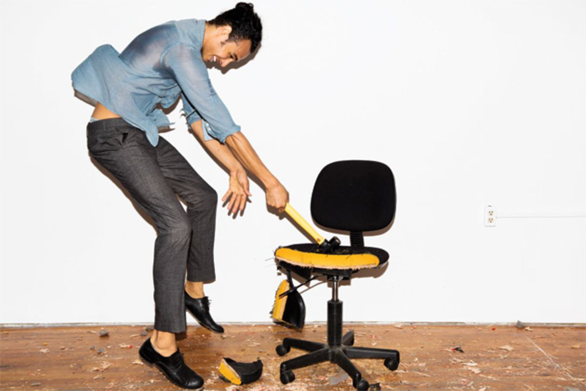 Kill your desk chair and start standing bloomberg for Sitting chairs