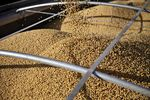 Soybeans are unloaded onto a truck in Tiskilwa, Illinois, U.S..