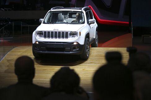 A Jeep Renegade SUV Automobile is Seen in Geneva