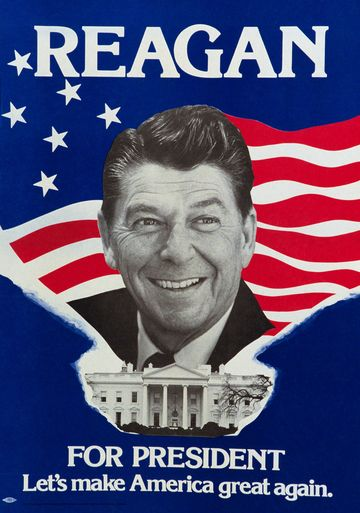 Reagan for President campaign poster