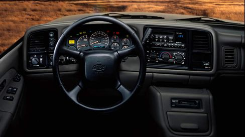 The interior of the 2002 Chevrolet Silverado