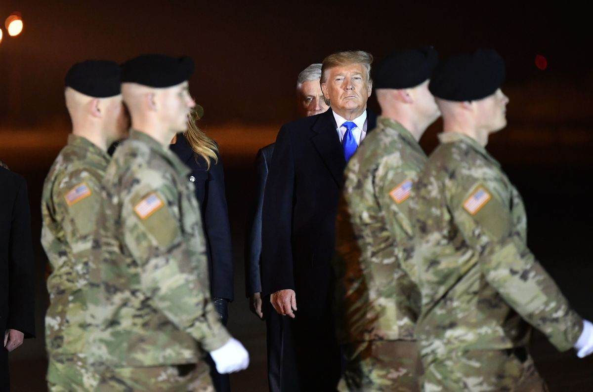 Trump Meets Families of Soldiers Killed in Afghanistan