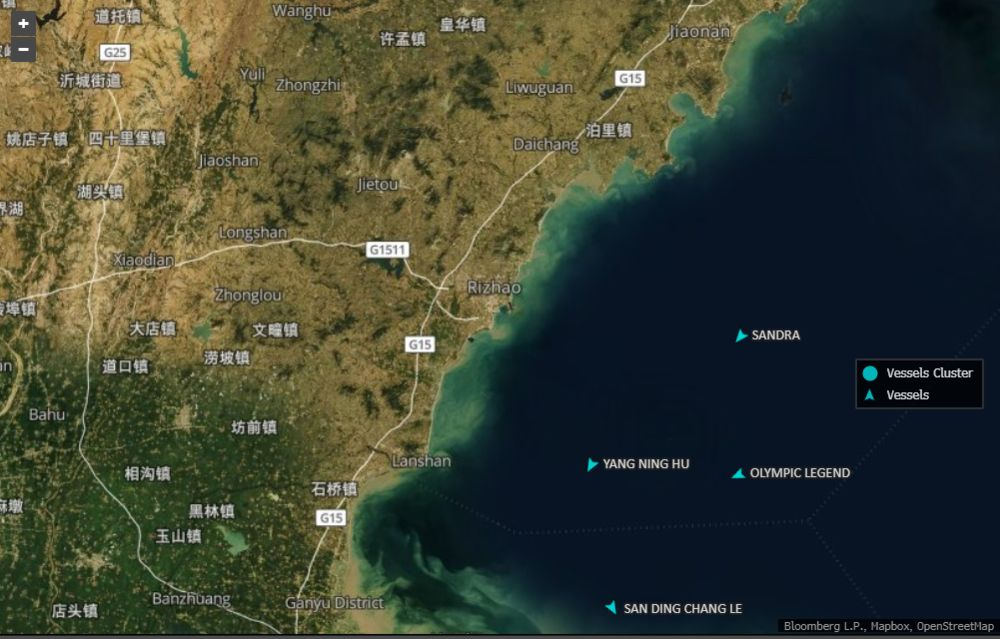Oil tankers wait for weeks off Shandong's coast