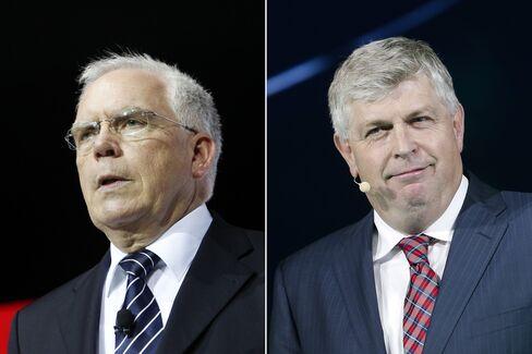 Ulrich Hackenberg and Wolfgang Hatz. Photographer: Patrick T. Fallon/Bloomberg