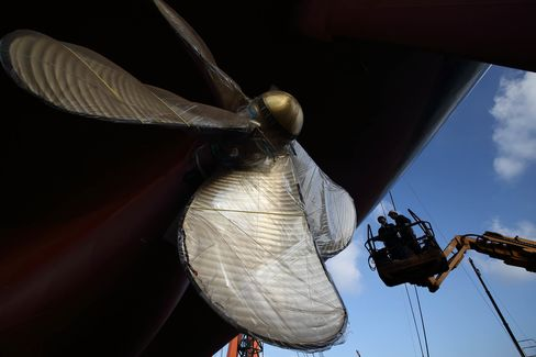 Inside The Hyundai Samho Heavy Industries Co. Shipyard Ahead Of Manufacturer Confidence Index