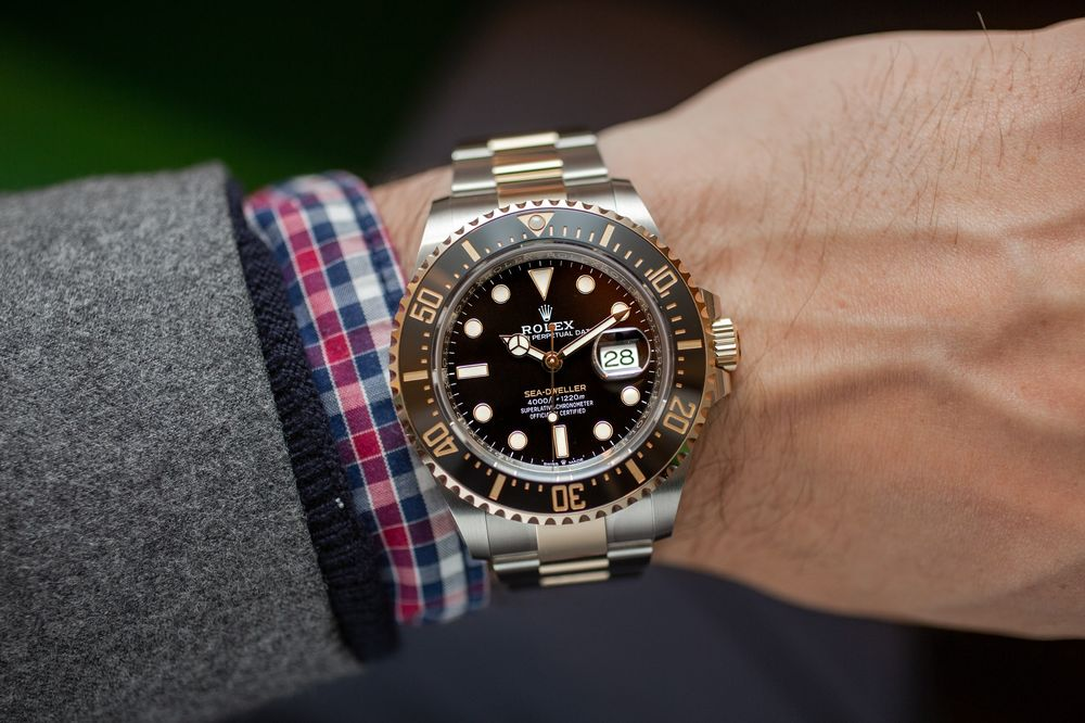 ef3429d67e7 Rolex Sea-Dweller in Two-Tone Steel and Yellow Gold: Hands On ...