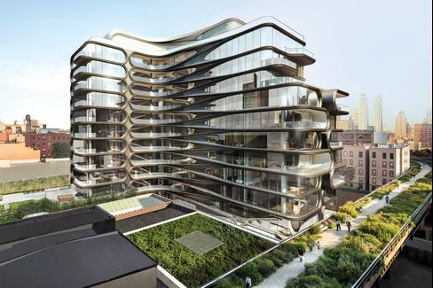 Apartments start at 1,700 square feet and max out at 6,000 square feet. The building's open-plan layouts conjure lofts.
