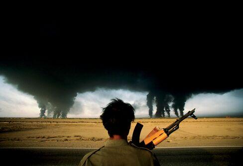 Burning Oil Fields