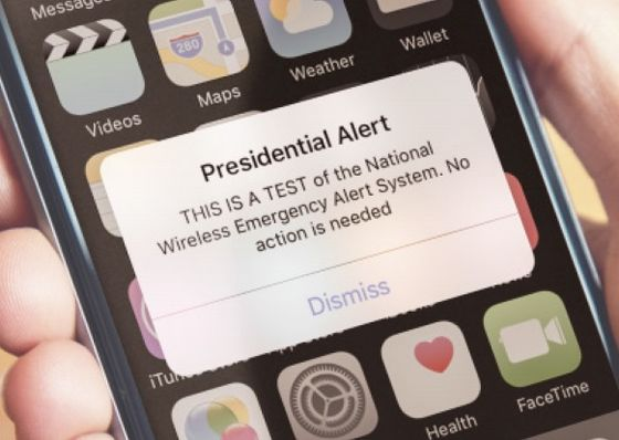That Presidential Alert on Your Phone This Afternoon Wasn't Written by Trump