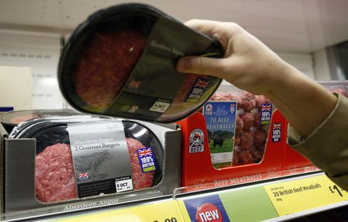 Horse Meat Find Seen Boosting U.K. Cattle as Buyers Check Labels