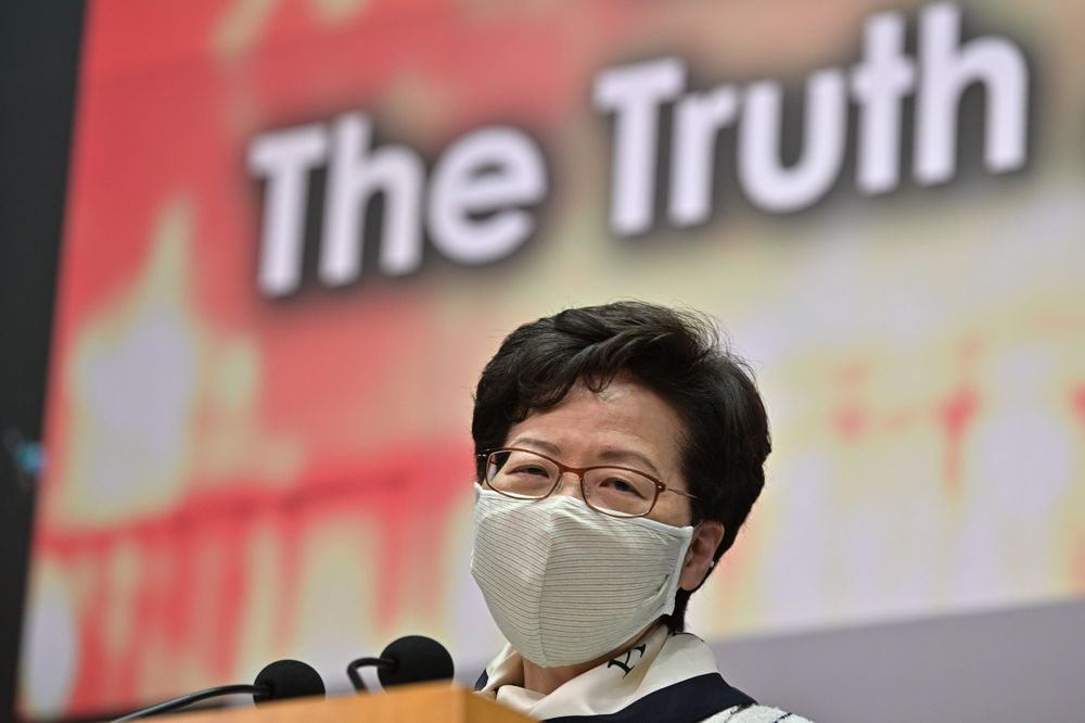 """Carrie Lam has gone from calling opponents """"spoiled children"""" to """"enemies of the people."""""""
