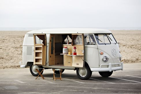 Gooding & Co. Lot 33: the 1964 Volkswagen Camper. The car was built as a 1964 conversion by the well-known EZ Camper Inc. in Southern California. It's considered to be in museum-worthy original condition.