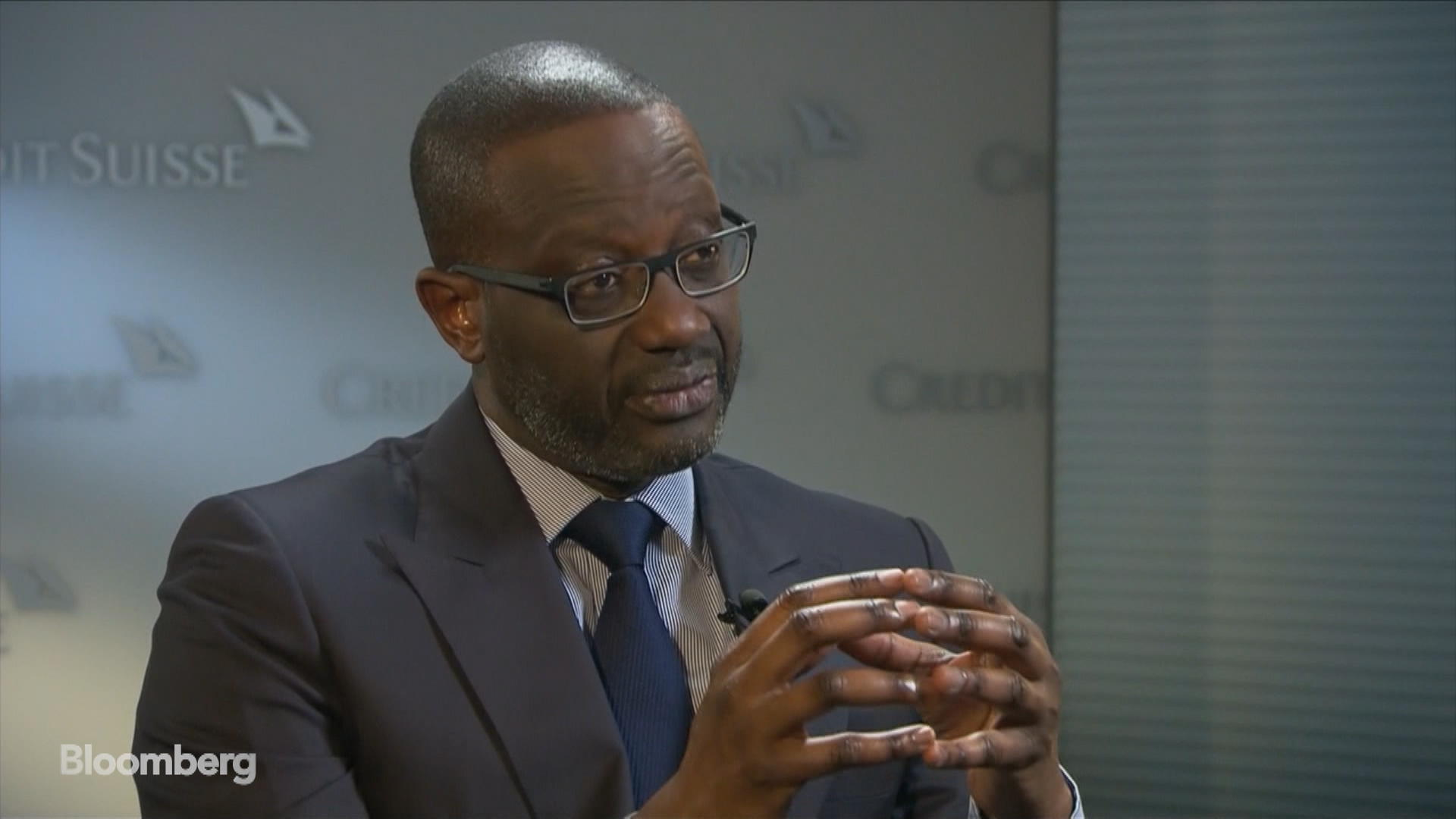 Credit Suisse CEO Thiam on Earnings, Trading Unit, Wealth Management