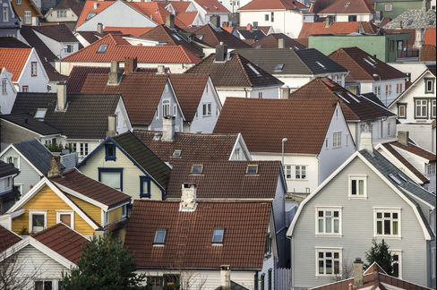 Residential Houses Stand in the City Center in Stavanger