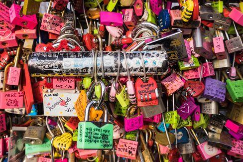 Love Locks in Seoul.