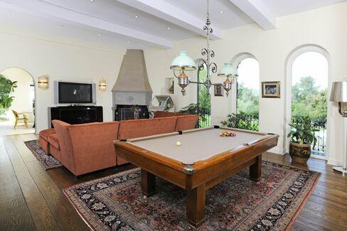 The billiard table.