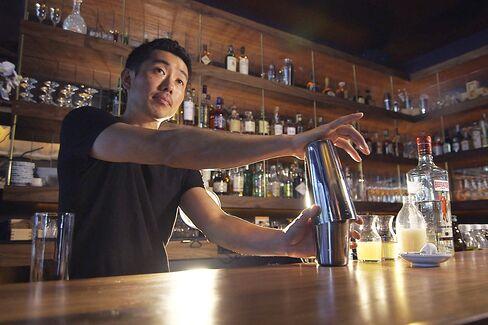 Kenta Goto at his new bar.