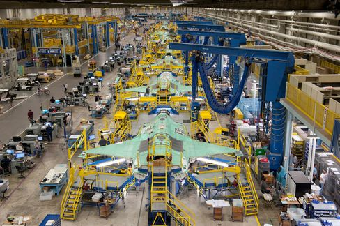 Lockheed Martin Corp.'s F-35 fighter jet manufactured in Texas.