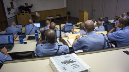 Cadets during a training course